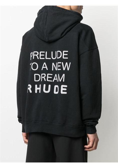 Rhude sweatshirt black men RHUDE | RHPS21HO000000010015