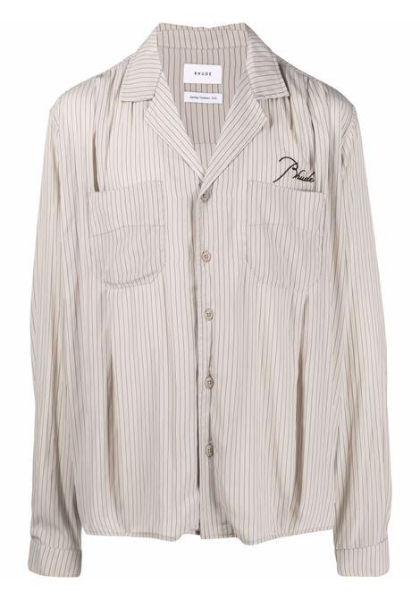 Camicia a righe Uomo RHUDE | Camicie | RHPS21LS000000050355