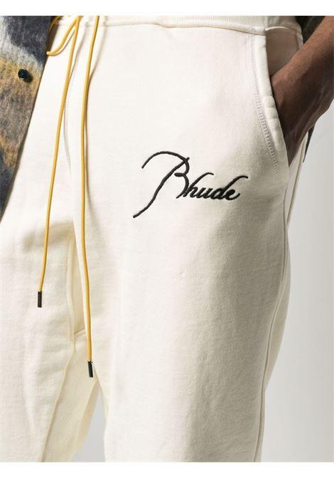 Rhude trousers creme men RHUDE | RHPS21PA000000080349