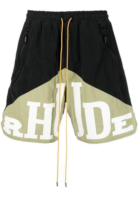 Rhude bermuda men black green RHUDE | Bermuda Shorts | RHPS21SH000000080359
