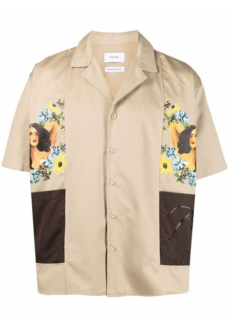 Rhude shirt men tan brown RHUDE | Shirts | RHPS21SS000000030163