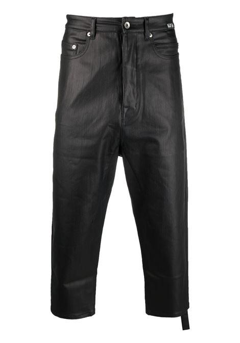 Rick owens cropped jeans men drkshdw black RICK OWENS DRKSHDW | DU21S2357SBKM09