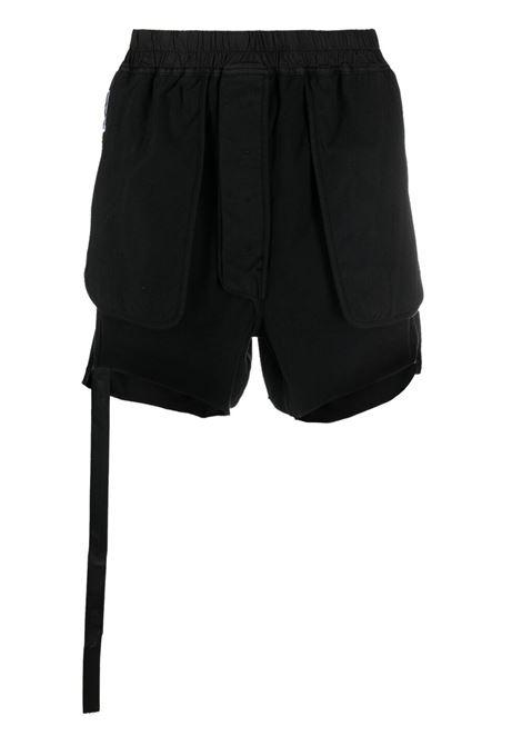 Logo-patch shorts RICK OWENS DRKSHDW | Bermuda Shorts | DU21S2387RIG09