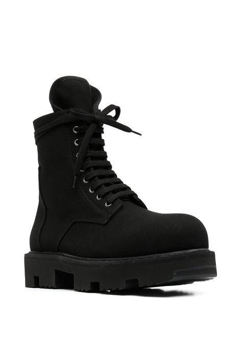 Rick owens drkshdw lace-up chunky boots men black RICK OWENS DRKSHDW | DU21S2850TNA99