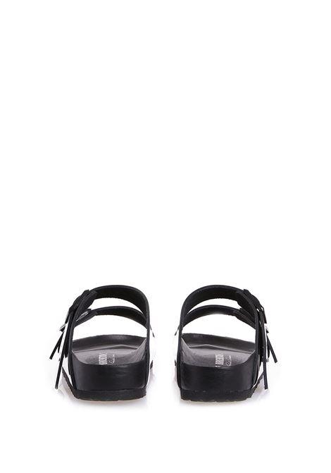 Ciabatte arizona con design lucido nero - donna RICK OWENS X BIRKENSTOCK | BW21S38081947986