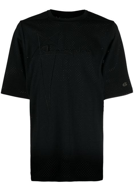 Rick owens x champion logo t-shirt men black RICK OWENS X CHAMPION | T-shirt | CM21S001021676309