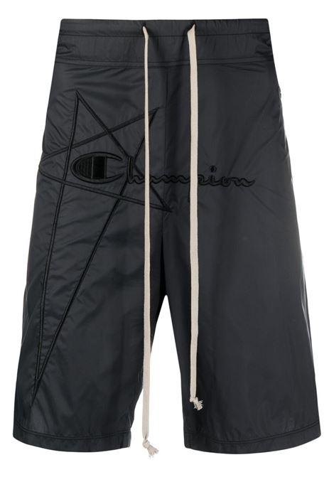 Rick owens x champion logo bermuda shorts men black RICK OWENS X CHAMPION | Bermuda Shorts | CM21S001321677609