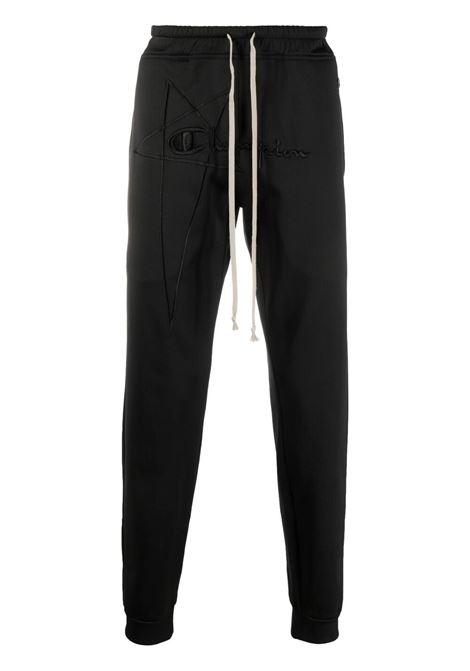 Rick owens x champion logo trousers men black RICK OWENS X CHAMPION | Trousers | CM21S001621678209