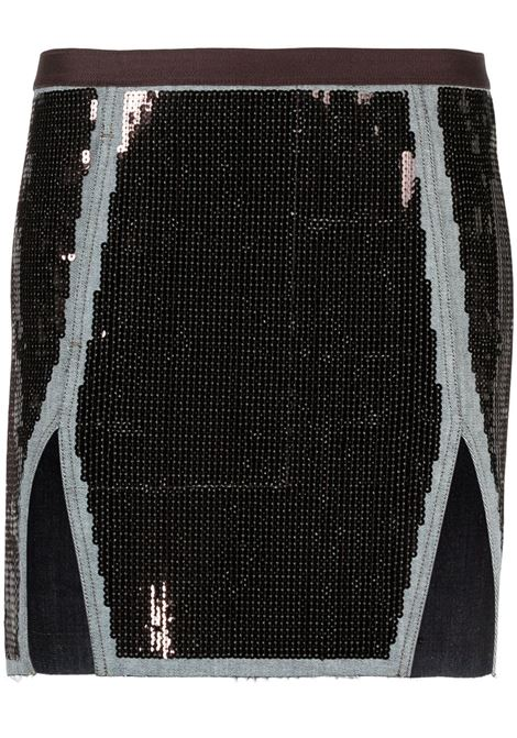 Sequin-embellished skirt RICK OWENS | Skirts | RP21S3348SRAWM10609