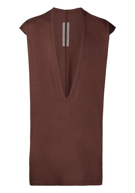 Deep V-neck tank top RICK OWENS | T-shirt | RU21S6157JA23