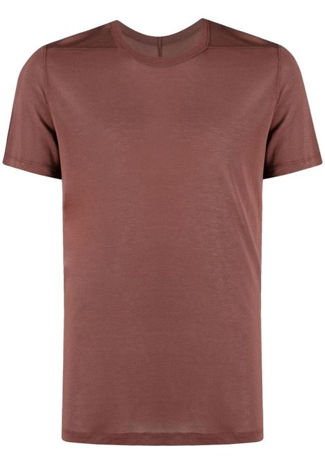 Rick owens basic t-shirt men throat RICK OWENS | T-shirt | RU21S6265JS23