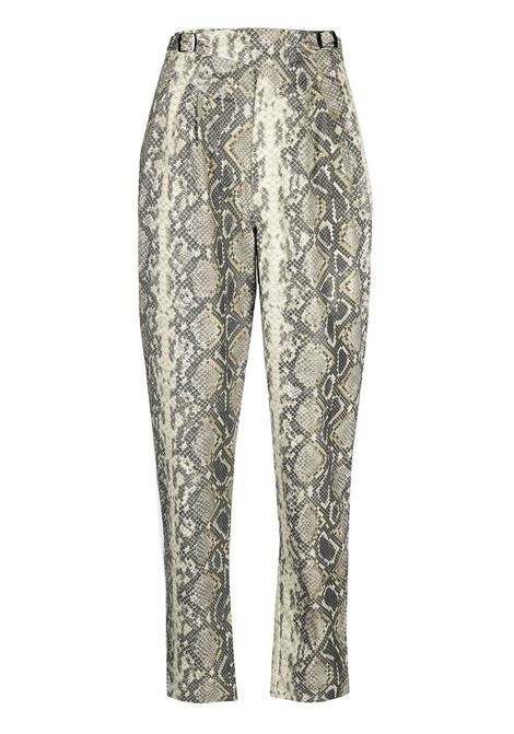 Snakeskin-print trousers ROTATE | Trousers | RT0605010