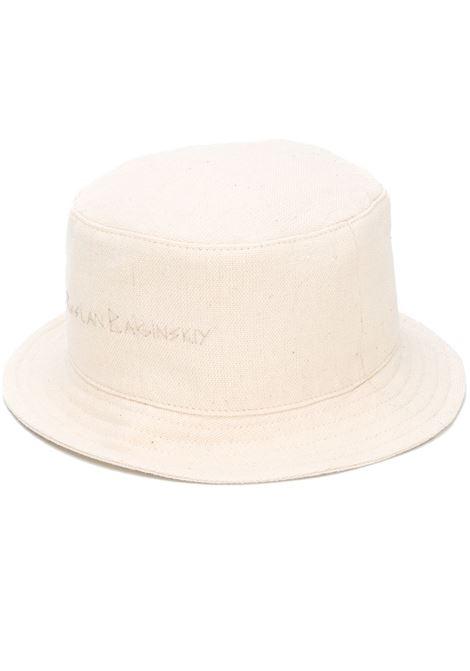 Ruslan Baginskiy cappello bucket con logo donna light beige RUSLAN BAGINSKIY | Cappelli | BCT035CBRLGHTBG