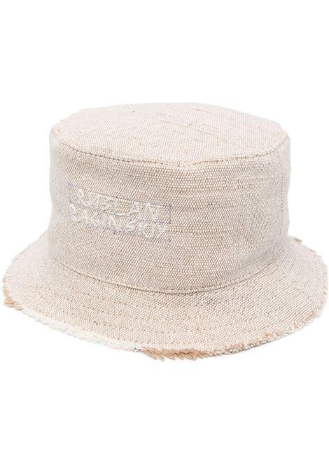 Ruslan Baginskiy cappello con logo donna beige RUSLAN BAGINSKIY | Cappelli | BCT036HBHRBG