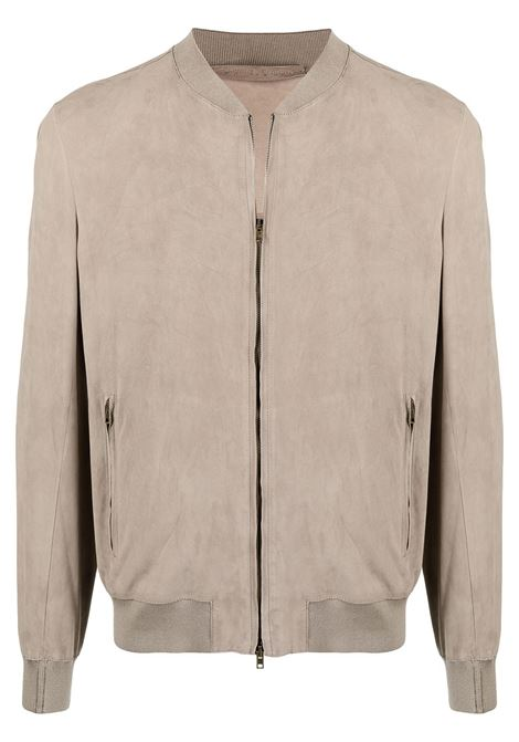 Salvatore santoro zipped bomber jacket men sand SALVATORE SANTORO | Outerwear | 40517SND