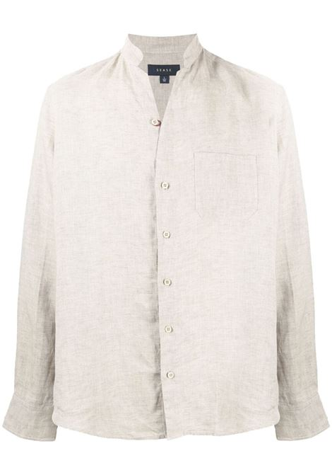 Stand-up collar linen shirt SEASE | Shirts | SC030TN071G43