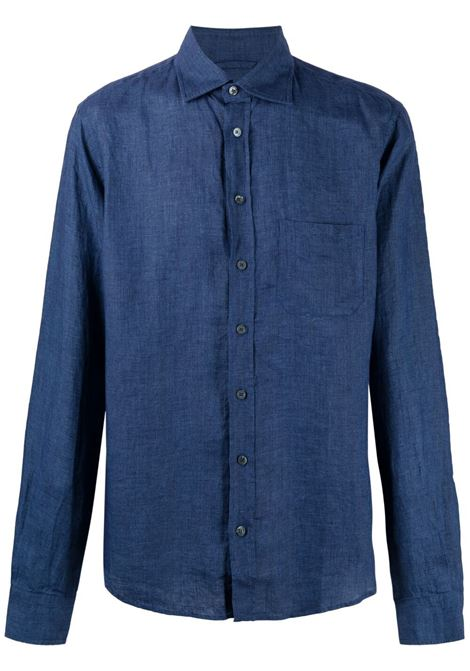Sease camicia con colletto a punta uomo blue navy SEASE | Camicie | SI030TN073B13
