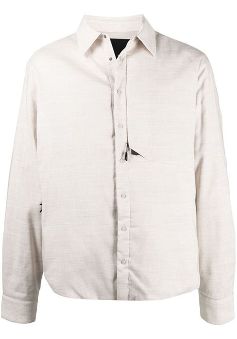 Sease giacca-camicia con colletto a punta uomo driftwood SEASE | Capispalla | SI032TN014X34