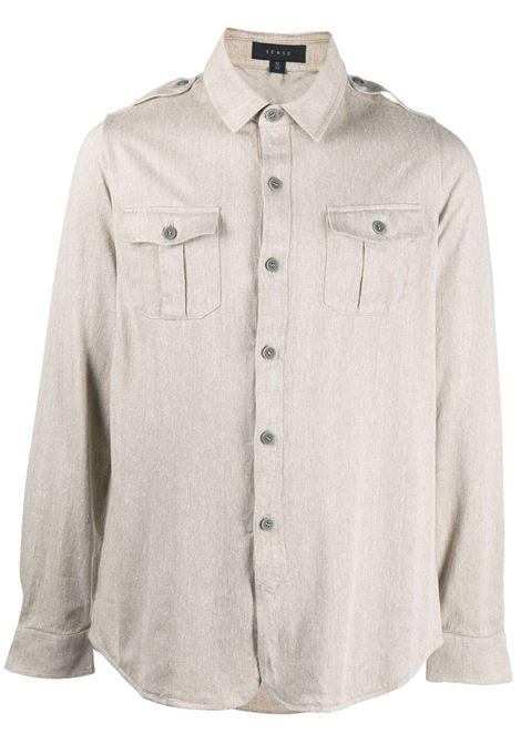 Sease camicia con taschino uomo ecru SEASE | Camicie | WP030TJ017X43