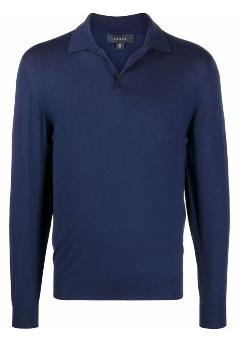 Sease sweater men navy blue SEASE | Sweaters | WP032XG004B13