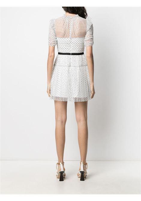 Polka dot dress SELF-PORTRAIT | RS21043PWHT