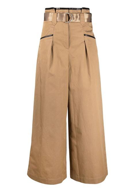 Self-portrait pantaloni a gamba ampia donna camel SELF-PORTRAIT | Pantaloni | SS21015TCML