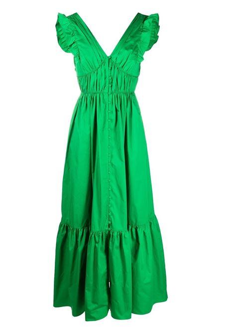 Self-Portrait abito con ruches donna green SELF-PORTRAIT | Abiti | SS21036CGRN