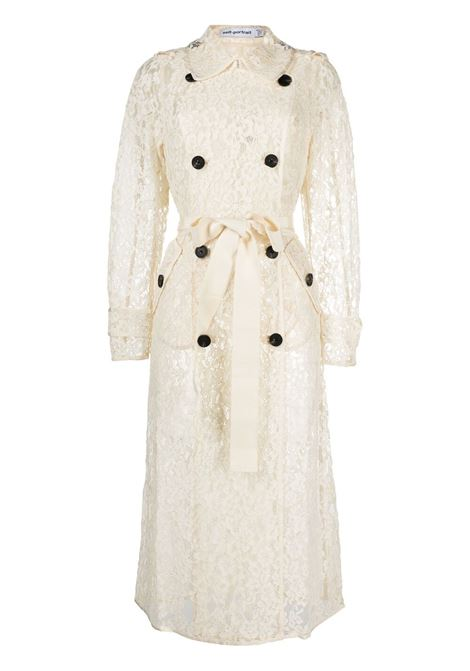 Lace trench coat SELF-PORTRAIT | Outerwear | SS21058CRM