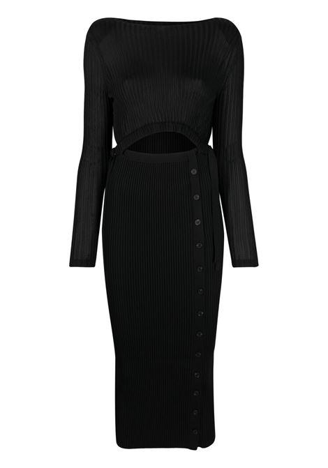 Cut-out detail fitted dress SELF-PORTRAIT | Dresses | SS21082BBLK