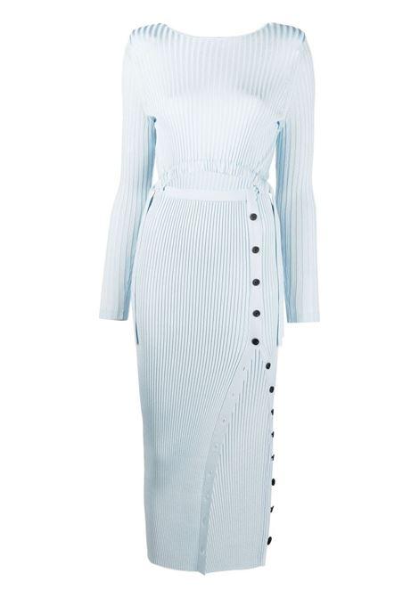 Self-portrait ribbed dress women blue SELF-PORTRAIT | Dresses | SS21082BL