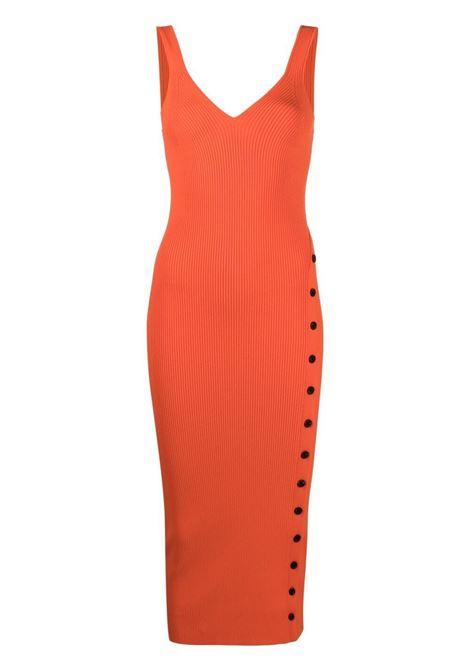 Self-portrait abito con scollo a V donna orange SELF-PORTRAIT | Abiti | SS21090ORNG