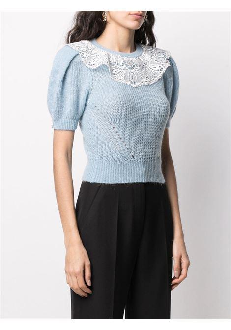 Maglione con collo di pizzo Donna SELF-PORTRAIT | TS21114TLGHTBL