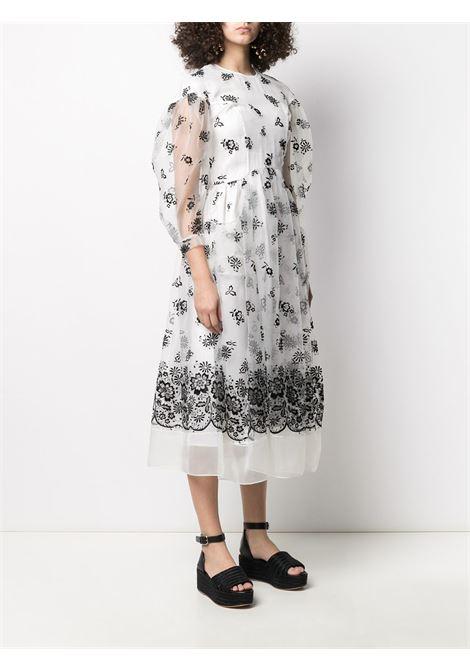 Embroidered organza midi dress SIMONE ROCHA | 70770428IVRY