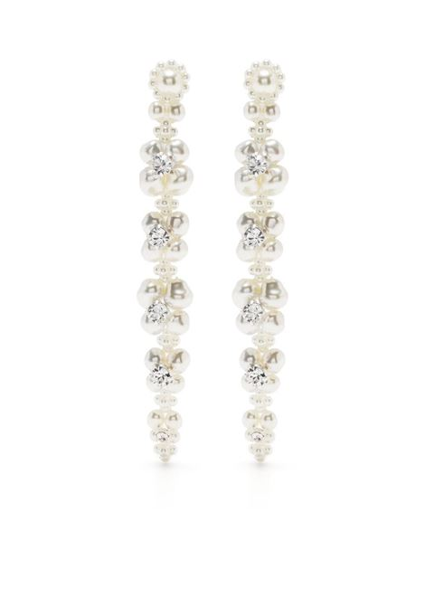 Simone rocha crystal drop earrings pearl clear SIMONE ROCHA | Earrings | ERG2460906PRLCLR