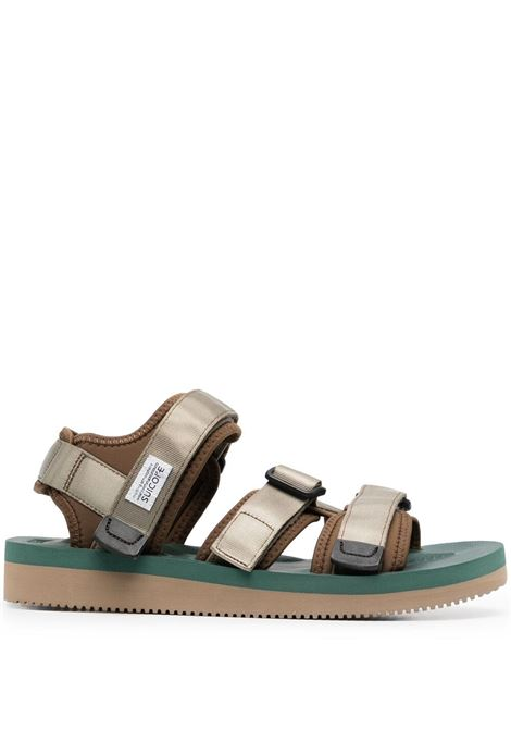 Suicoke men touch-strap flat sandals khaki green SUICOKE | Sandals | OG044V125
