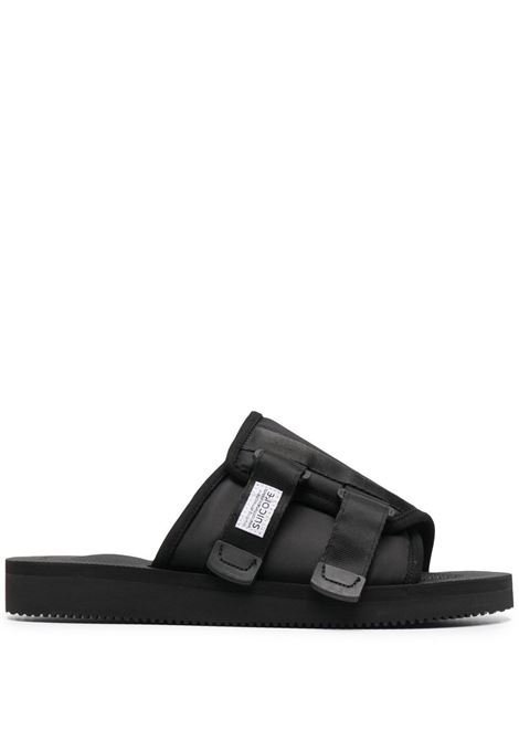 Suicoke touch-strap flat slides men black SUICOKE | Slides | OG081CAB001