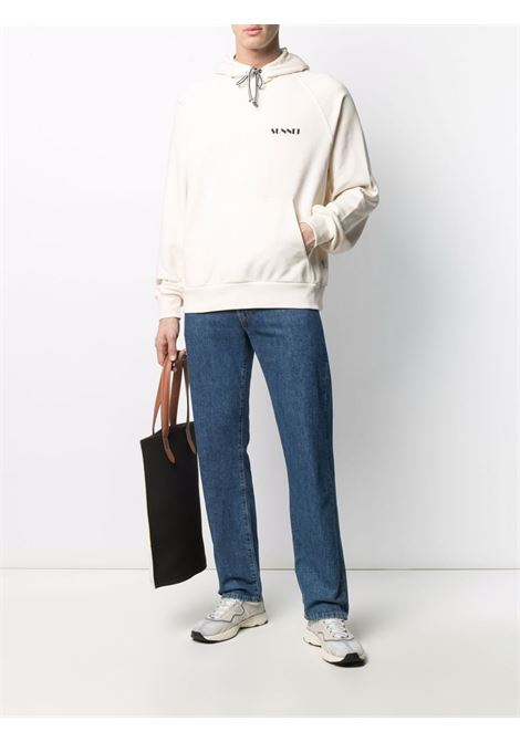 Sunnei logo sweatshirt men cream SUNNEI | SN1SMF01APJE076064