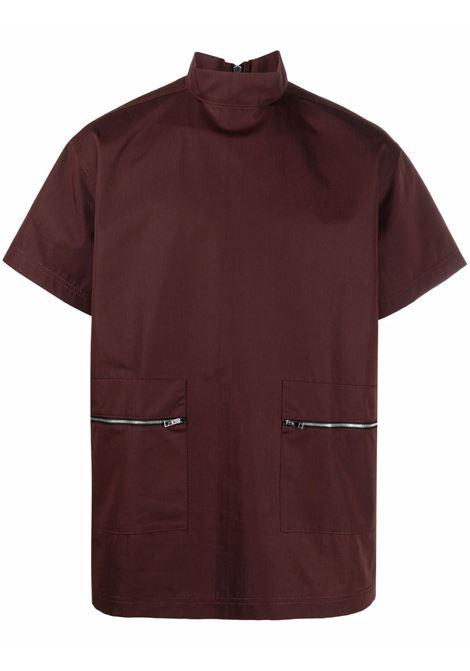 Sunnei rear zip-fastening shirt men cocoa SUNNEI | SN1SMS03APTE907388