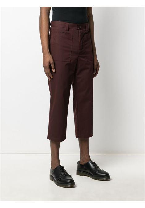 Sunnei cropped-leg trousers men cocoa SUNNEI | SN1SMT06APTE907388