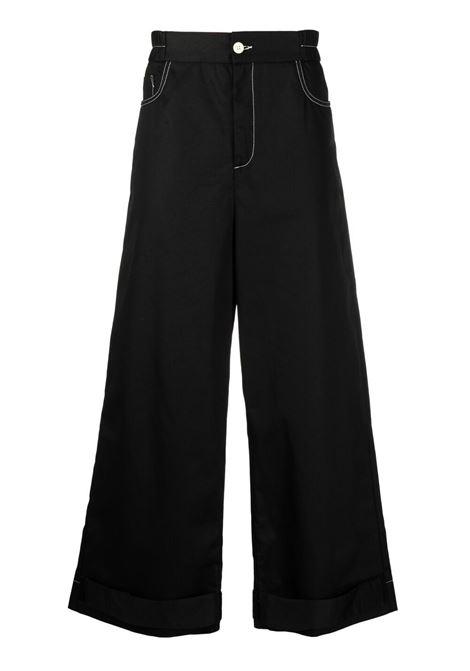 Sunnei wide leg trousers men black SUNNEI | SN1SMT10APTE087999