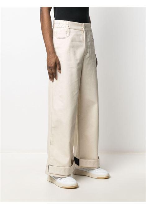 Sunnei wide leg trousers men off white SUNNEI | SN1SMT10APTE238005