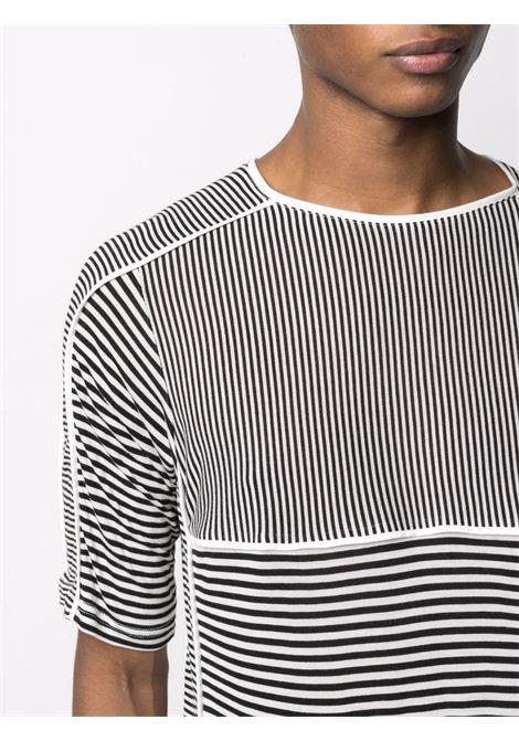 Sunnei illusion-stripe t-shirt unisex white black SUNNEI | SN1SXH07BPJR010R05