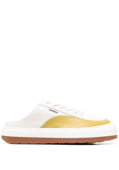 Sunnei panelled mules unisex off white curry SUNNEI | Mules | SN1SXQ006001DSB02000