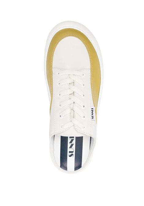 Sunnei panelled mules unisex off white curry SUNNEI | SN1SXQ006001DSB02000