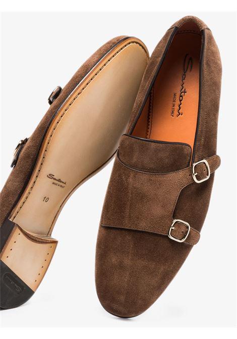 Santoni men monk shoes brown SANTONI | MCNC13907LA3ESVUS50