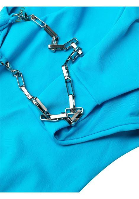 The attico chain-trim bikini set women turchese THE ATTICO | 215WBB07OA15014