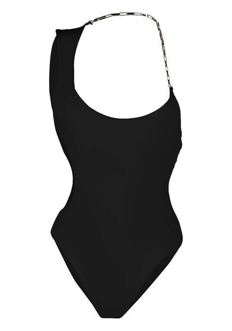 The attico costume intero asimmetrico donna black THE ATTICO | Costumi | 215WBB08PA15100