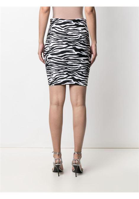 The attico zebra-print mini skirt women zebra THE ATTICO   215WBB09PA14020