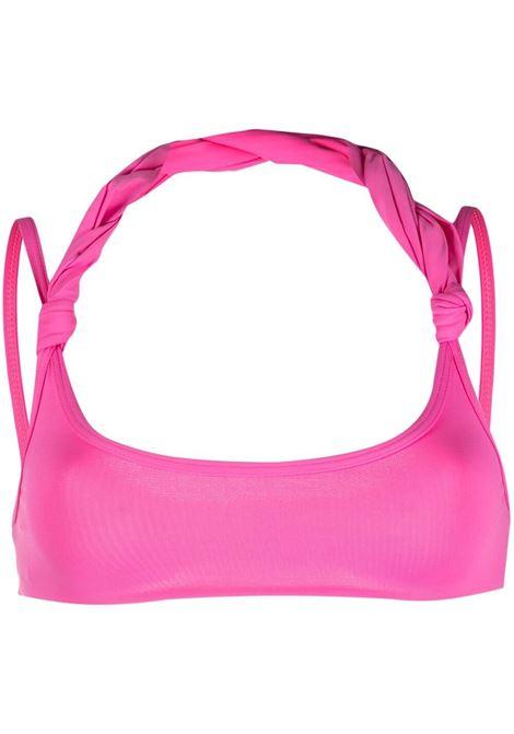 The attico top bikini con scollo all'americana donna baby pink THE ATTICO | Costumi | 215WBB14PA15007