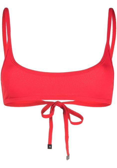 The attico top bikini a coste donna red THE ATTICO | Costumi | 215WBB18PA16010